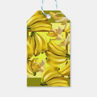 yellow bananas gift tags