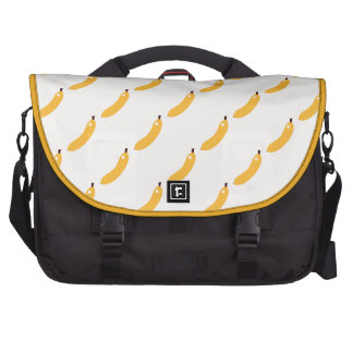 yellow bananas laptop shoulder bag