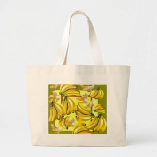 yellow bananas large tote bag