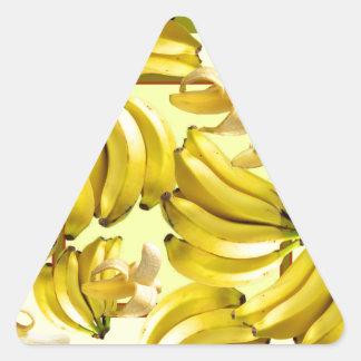 yellow bananas triangle sticker