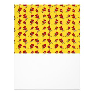 yellow barbeque pattern flyers