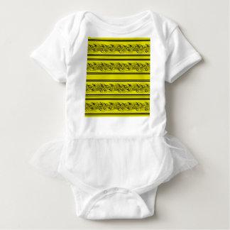 Yellow barbwire baby bodysuit