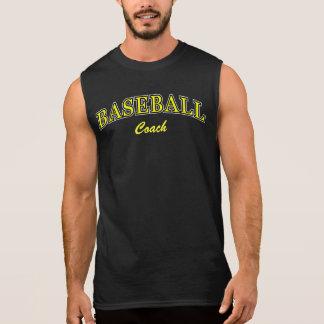 Yellow Baseball Coach 1 Sleeveless Shirts