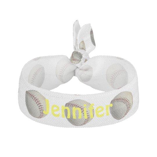 Yellow Baseball Hair Tie