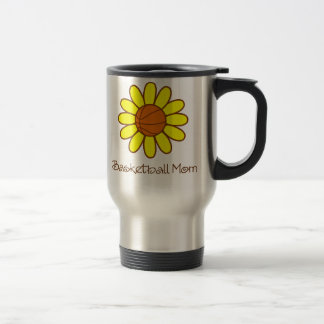 Yellow Basketball Mom Travel Mug