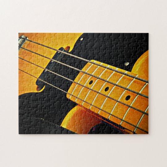 Yellow Bass Guitar Jigsaw Puzzle