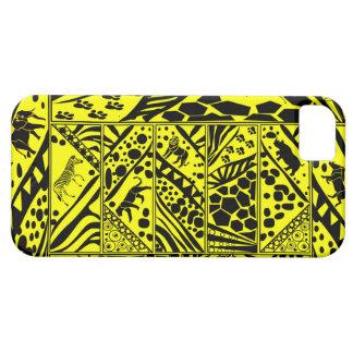 Yellow Batik style I phone case