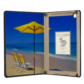 Yellow beach umbrella and chairs on pristine iPad mini retina case