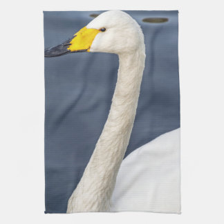 Yellow beaked swan kitchen towel
