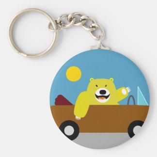 Yellow Bear Driving Keychain