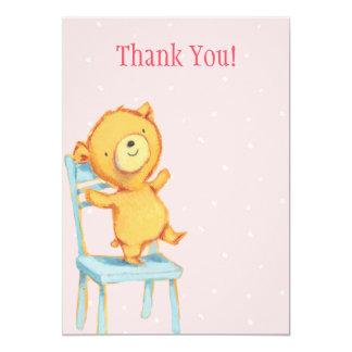 Yellow Bear Thank You Card