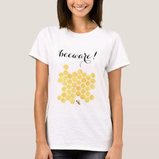 Yellow bee painting women's basic shirt