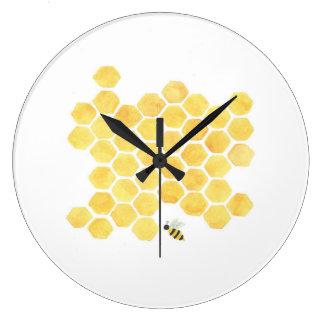 yellow bee wall clock kitchen nursery