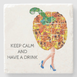 YELLOW BELL PEPPER GEMS STONE COASTER