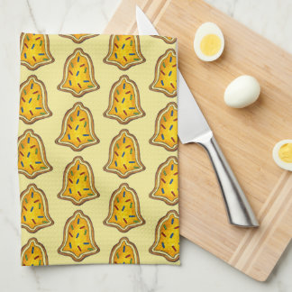 Yellow Bell Sprinkles Cookie Holiday Christmas Kitchen Towel