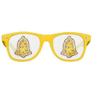 Yellow Bell Sugar Cookie Merry Christmas Holiday Retro Sunglasses