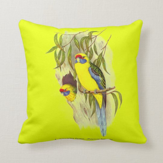 Yellow-Bellied Parakeet Throw Pillow