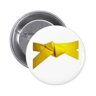 Yellow Belt 2 Inch Round Button