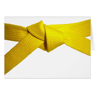 Yellow Belt Card