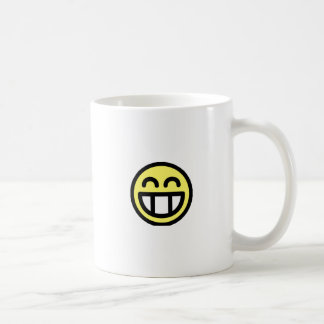 Yellow Big Grin Smiley Face Coffee Mug