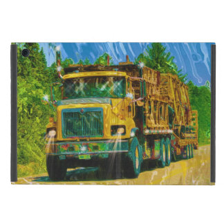 Yellow Big Rig Truckers Lorry & Highway Truck Cases For iPad Mini