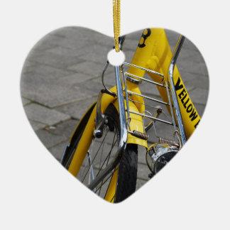 Yellow Bike Amsterdam Ceramic Ornament