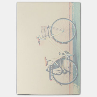 Yellow Bike Basket Bicycle Two Wheel Post-it Notes