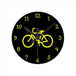 Yellow  Bike Round Clock