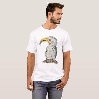 Yellow-Billed Hornbill Watercolor Painting T-Shirt