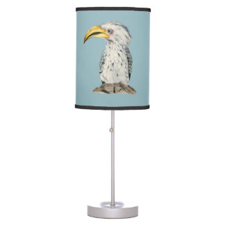 Yellow-Billed Hornbill Watercolor Painting Table Lamp