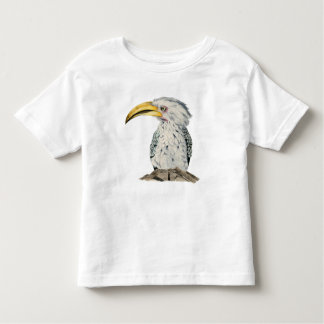 Yellow-Billed Hornbill Watercolor Painting Toddler T-shirt