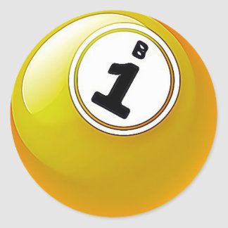 Yellow BINGO Ball Stickers