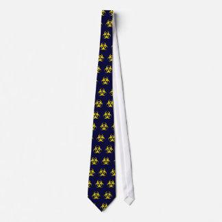 Yellow Biohazard Symbol Tie