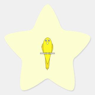 Yellow Bird. Canary. Star Sticker