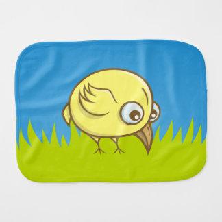 Yellow bird cartoon burp cloth