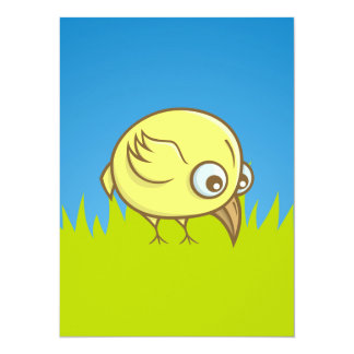Yellow bird cartoon card