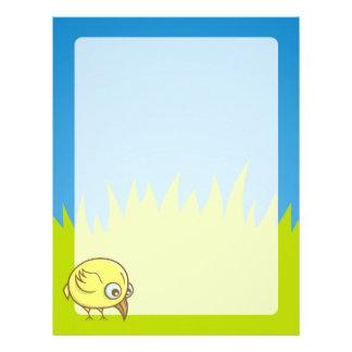 Yellow bird cartoon custom letterhead