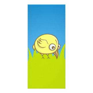 Yellow bird cartoon custom rack cards
