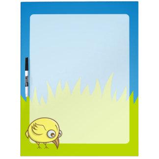 Yellow bird cartoon Dry-Erase board