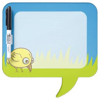 Yellow bird cartoon dry erase boards