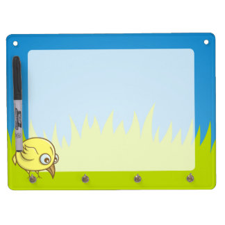Yellow bird cartoon Dry-Erase whiteboards