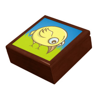 Yellow bird cartoon gift box