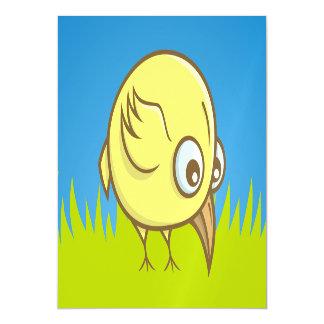 Yellow bird cartoon magnetic invitations