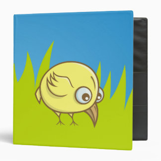 Yellow bird cartoon vinyl binder