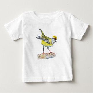 Yellow Bird Drawing Baby Fine Jersey T-Shirt, Baby T-Shirt