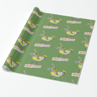 Yellow Bird Glossy Wrapping Paper
