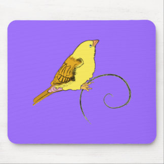 Yellow Bird Mouse Pad