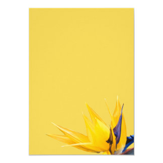 Yellow Bird of Paradise Wedding Blank Paper 5x7 Paper Invitation Card