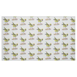"Yellow Bird  Polyester Poplin (60"" width) Fabric"