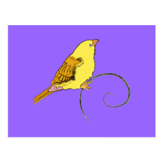 Yellow Bird Postcard